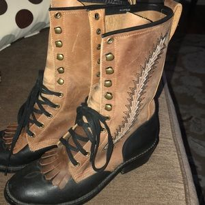 Jeffrey Campbell Leather Boots size 8.5